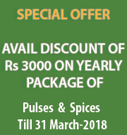 Special Offer on 1 Year Pulses or Spices subscription!