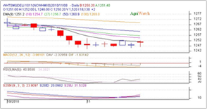 NCDEX, MCX Technical analysis  of Chana (Chickpeas) price